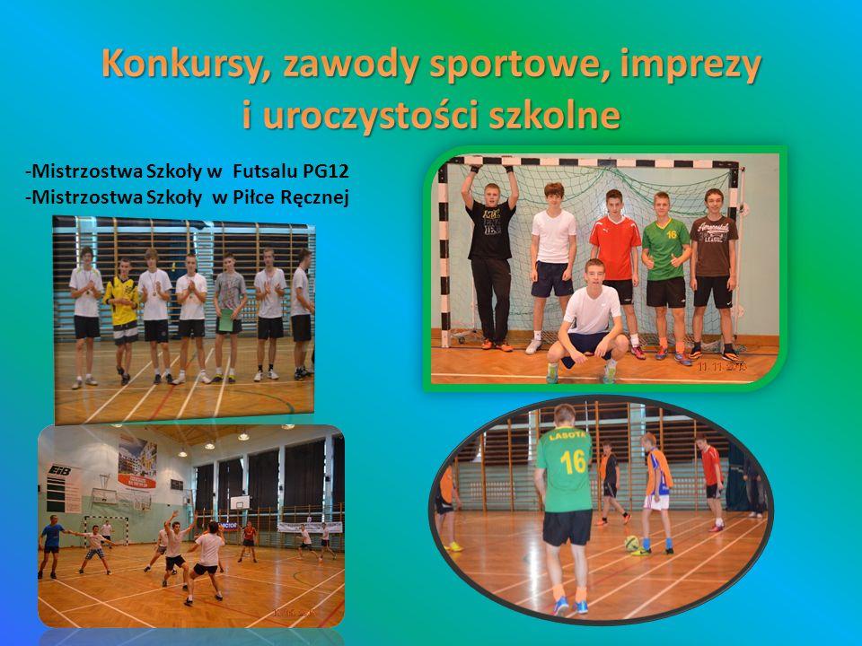 -Mistrzostwa Szkoły w Futsalu PG12 -Mistrzostwa Szkoły w Piłce Ręcznej