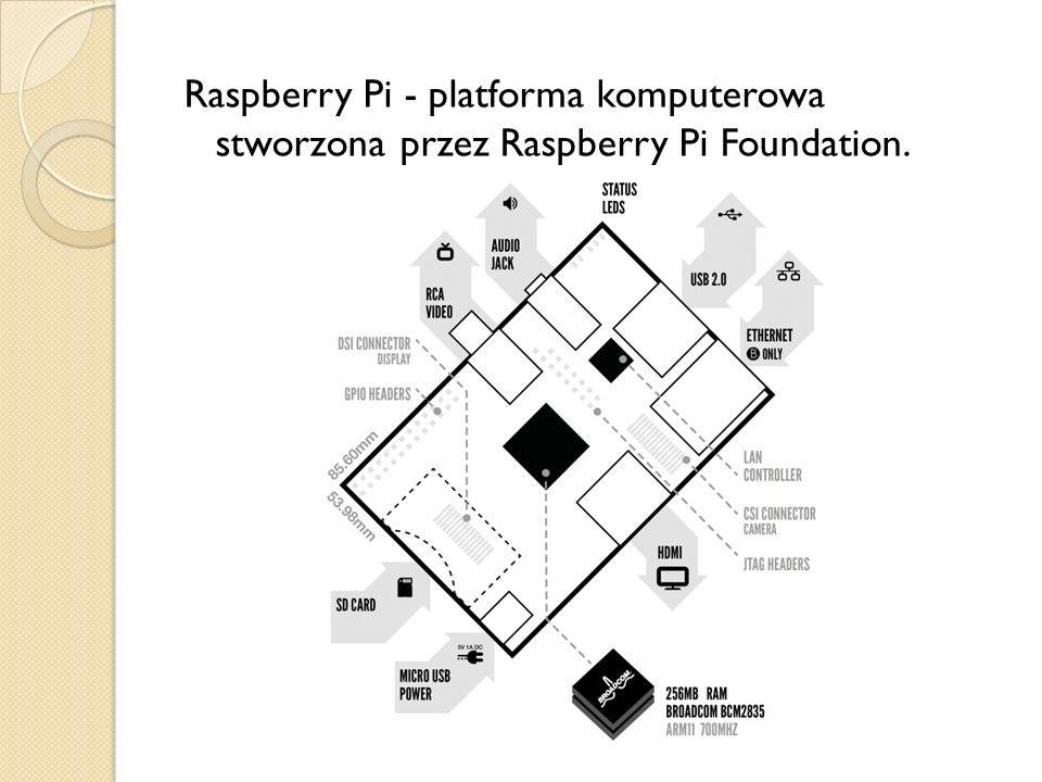 Raspberry Pi - platforma komputerowa stworzona przez Raspberry Pi Foundation.