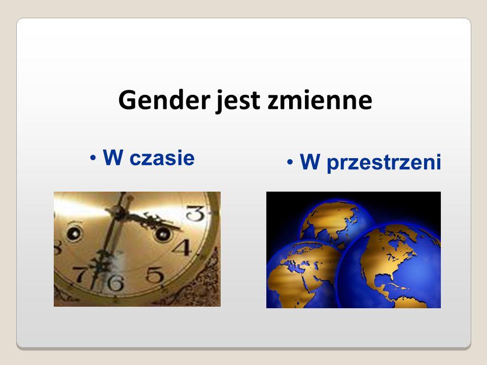 Gender jest zmienne W czasie W przestrzeni
