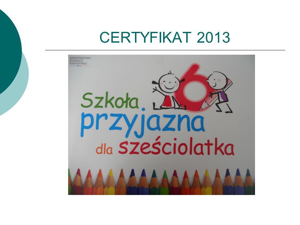 CERTYFIKAT 2013