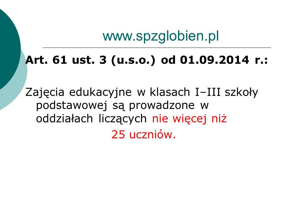 www.spzglobien.pl Art.61 ust.