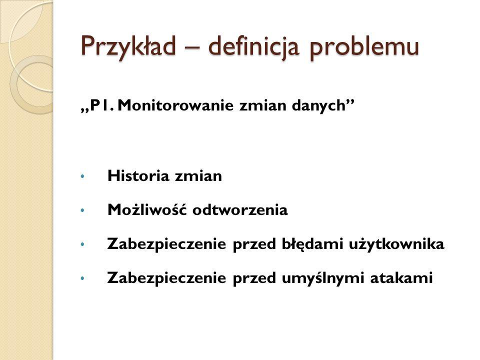 Przykład – definicja problemu P1.