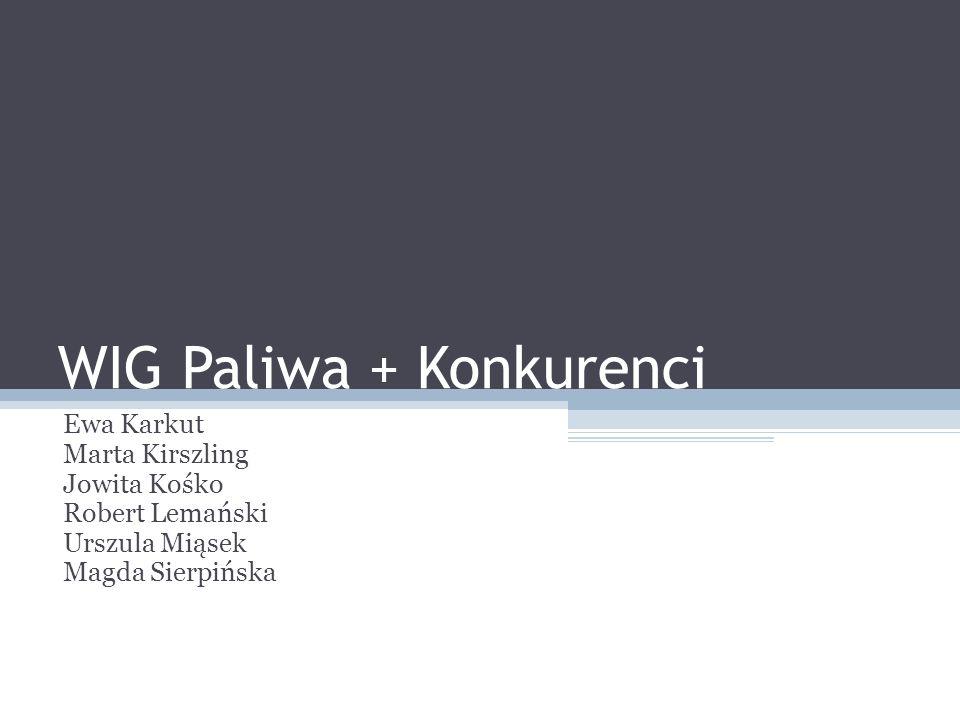 WIG Paliwa + Konkurenci Ewa Karkut Marta Kirszling Jowita Kośko Robert Lemański Urszula Miąsek Magda Sierpińska