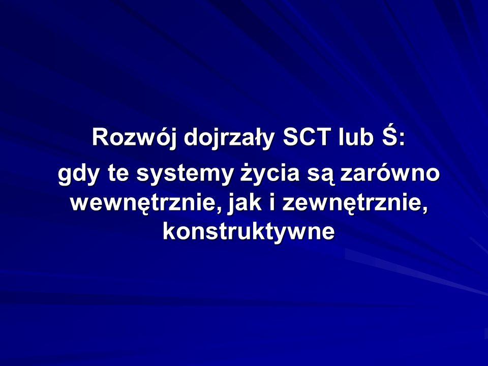 Rozwój dojrzały SCT lub Ś: gdy te systemy życia są zarówno wewnętrznie, jak i zewnętrznie, konstruktywne
