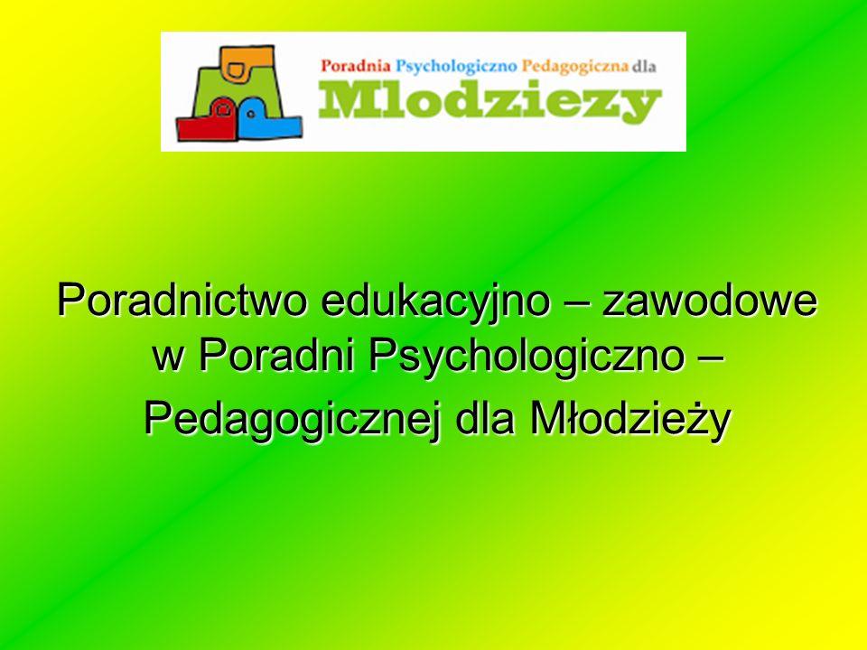 Poradnictwo edukacyjno – zawodowe w Poradni Psychologiczno – Pedagogicznej dla Młodzieży