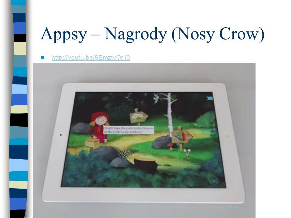 Appsy – Nagrody (Nosy Crow) http://youtu.be/9EmztyOrIi0