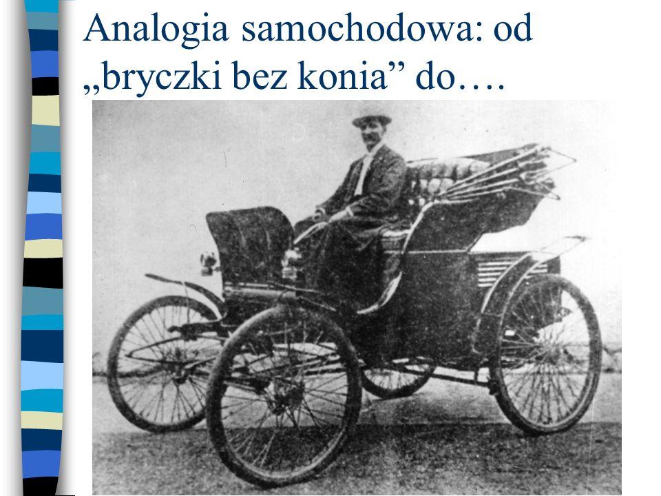 Analogia samochodowa: od bryczki bez konia do….