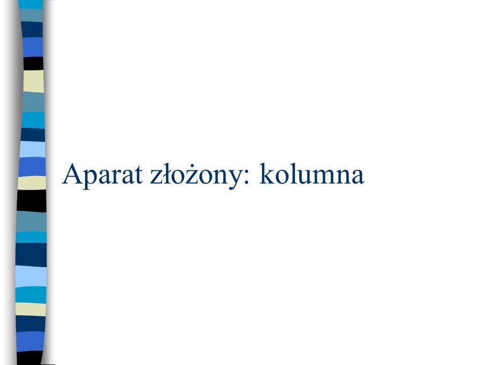 Aparat złożony: kolumna