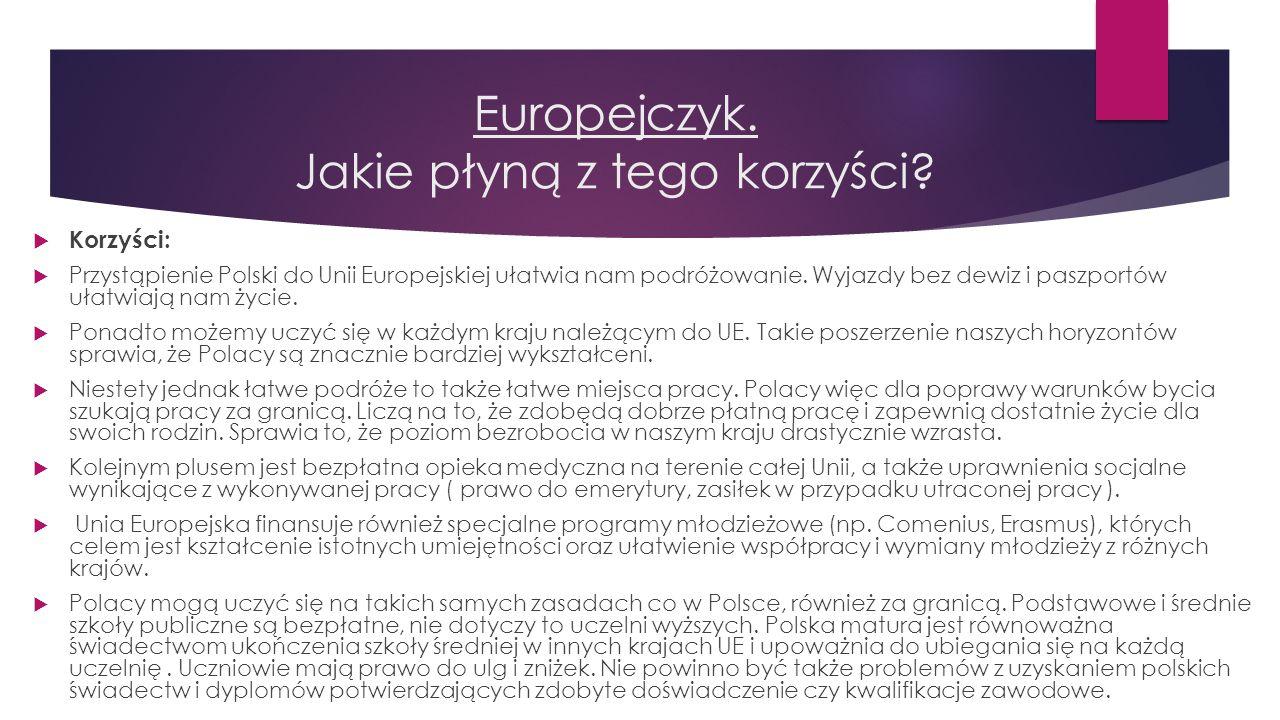 Europejczyk. Jakie płyną z tego korzyści? Śmieszna reklama funduszy europejskich ->filmik