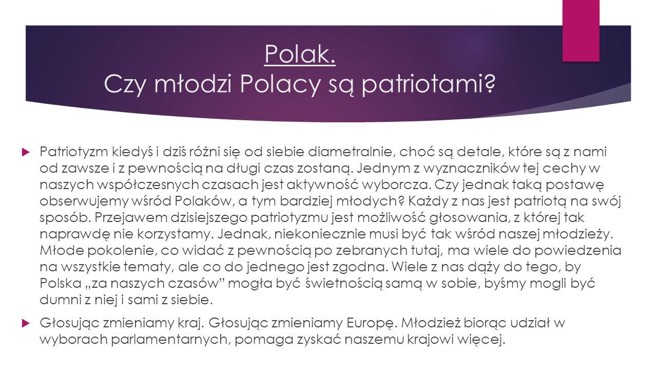 Polak. Czy młodzi Polacy są patriotami?