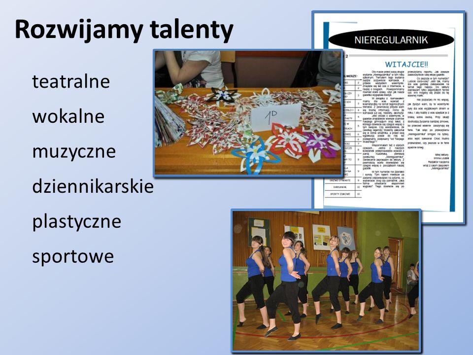 Trenujemy dyscypliny: Unihokej Piłkę siatkową Tenis stołowy Uzyskaliśmy tytuł Championa w sporcie 2012 Fitness Piłkę nożną Proponujemy także zajęcia na siłowni.