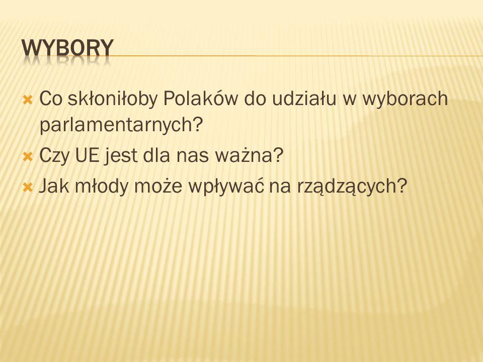 Co skłoniłoby Polaków do udziału w wyborach parlamentarnych.