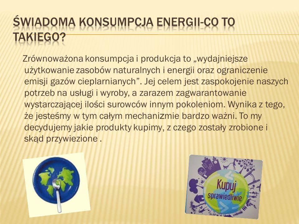 Dla rodziców i uczniów naszej szkoły przygotowałyśmy ulotkę informacyjną na temat świadomej konsumpcji energii.