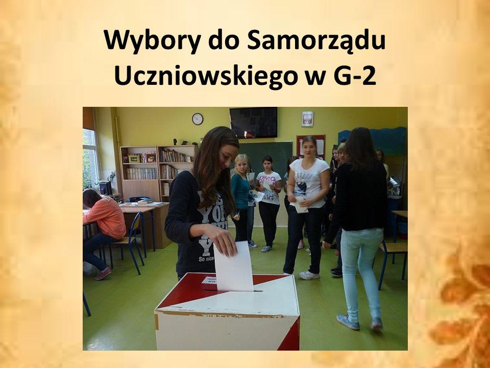 Wybory do Samorządu Uczniowskiego w G-2