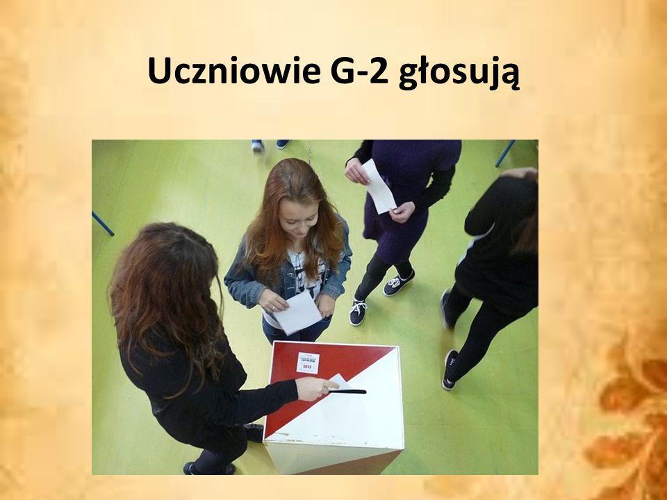Uczniowie G-2 głosują