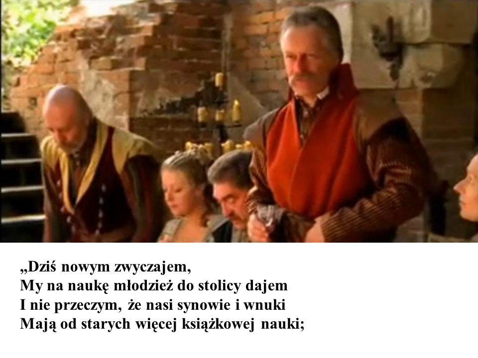 Sędzia, z boku rzuciwszy wzrok na Tadeusza I poprawiwszy nieco wylotów kontusza, Nalał węgrzyna i rzekł: