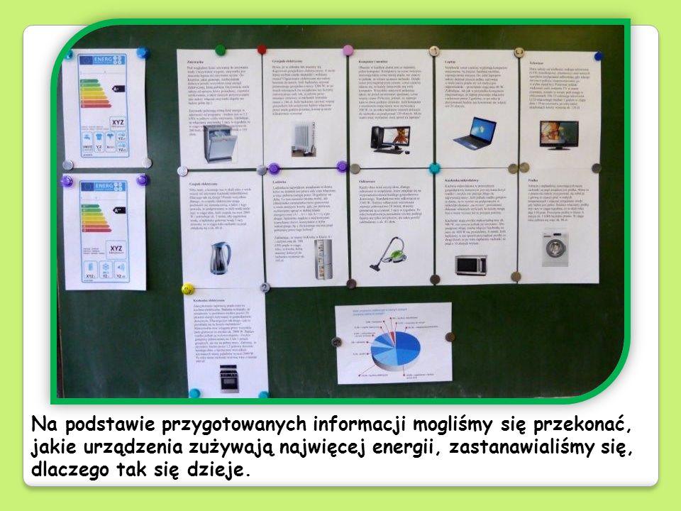 Przy okazji dowiedzieliśmy się, co oznaczają klasy energetyczne urządzeń AGD, i mieliśmy okazję zastanowić się, dlaczego nie zawsze oszczędzamy energię i jak to zmienić.