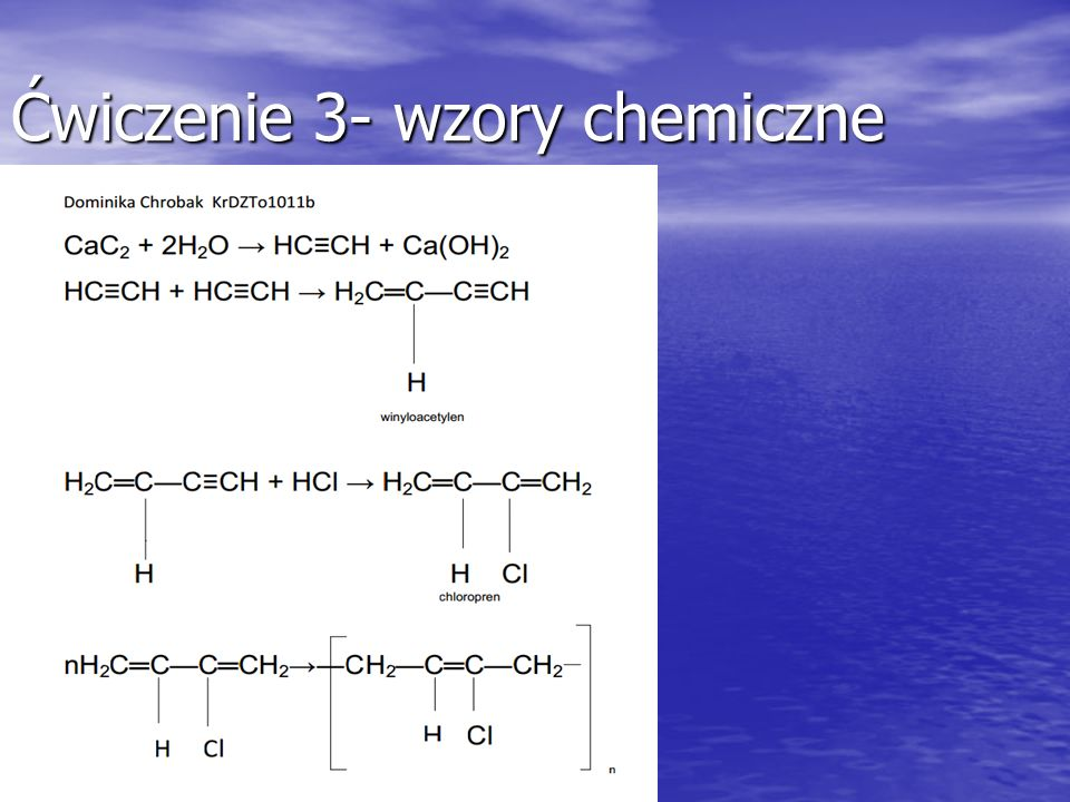 Ćwiczenie 3- wzory chemiczne