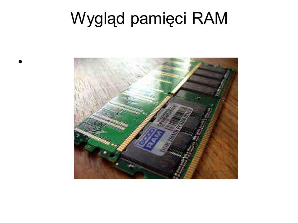 Pamięć RAM możemy podzieli na: Pamięć operacyjną-służy do przechowywania uruchomionych programów oraz przetwarzanych danych.