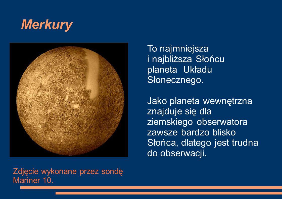 Merkury Zdjęcie wykonane przez sondę Mariner 10.
