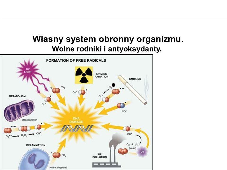Własny system obronny organizmu. Wolne rodniki i antyoksydanty.