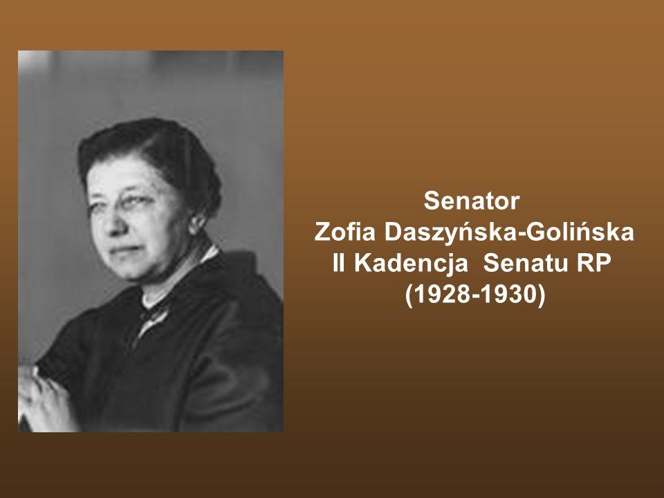 Senator Zofia Daszyńska-Golińska II Kadencja Senatu RP (1928-1930)
