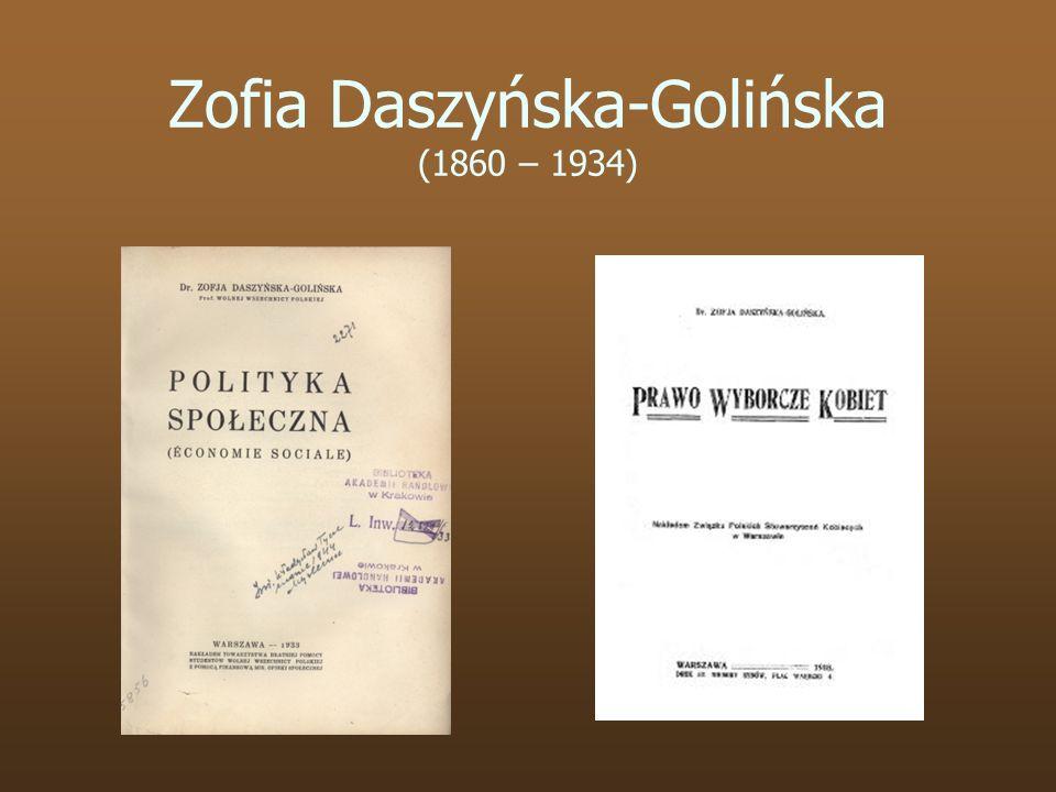 Zofia Daszyńska-Golińska (1860 – 1934)