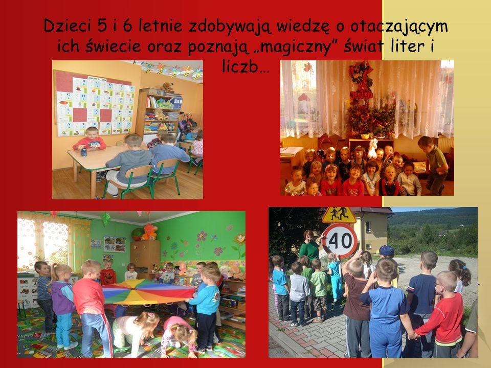 Dzieci 5 i 6 letnie zdobywają wiedzę o otaczającym ich świecie oraz poznają magiczny świat liter i liczb…