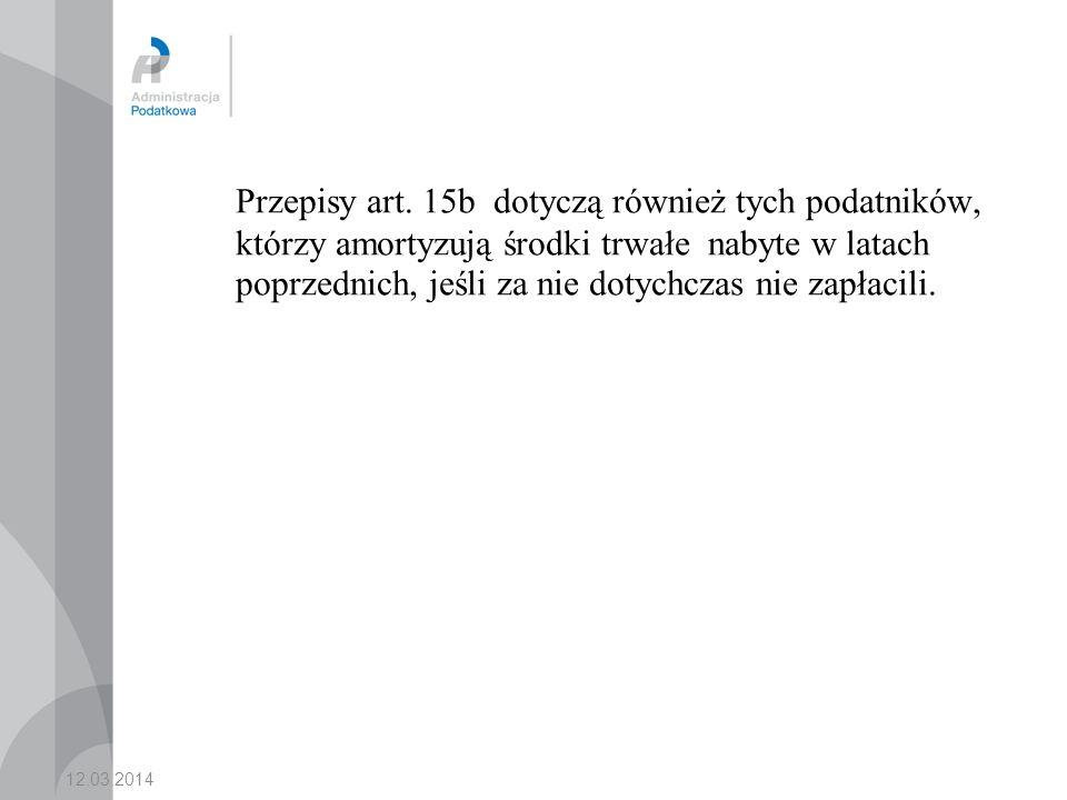 12.03.2014 Przepisy art.