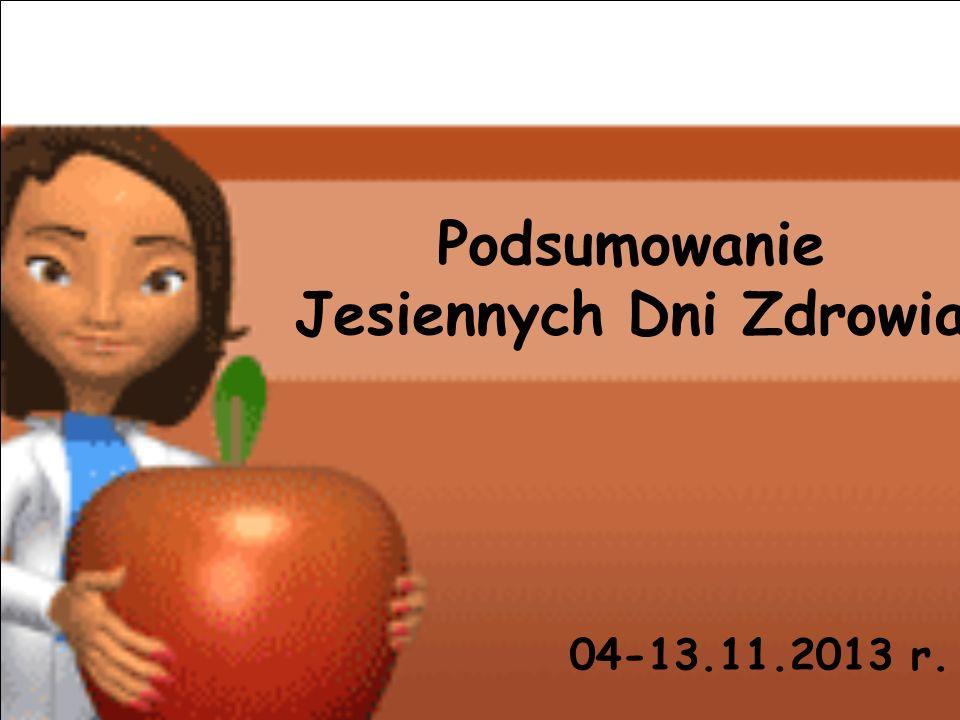 Podsumowanie Jesiennych Dni Zdrowia 04-13.11.2013 r.