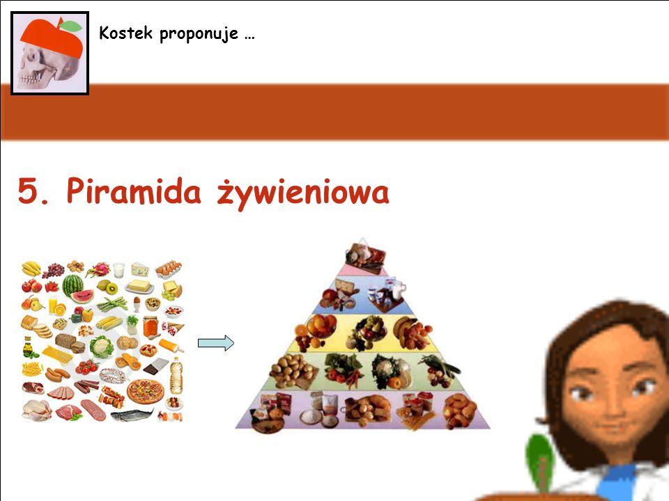 5. Piramida żywieniowa Kostek proponuje …