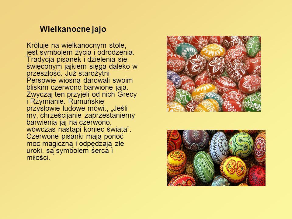 Wielkanocne jajo Króluje na wielkanocnym stole, jest symbolem życia i odrodzenia. Tradycja pisanek i dzielenia się święconym jajkiem sięga daleko w pr