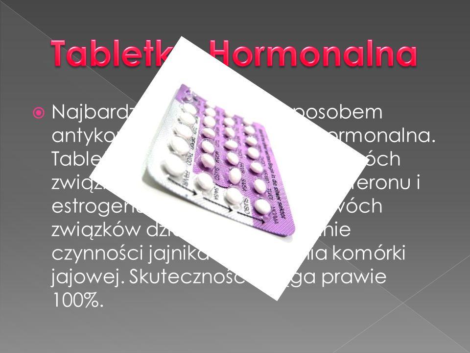 Najbardziej popularnym sposobem antykoncepcji jest tabletka hormonalna. Tabletka ta jest zbudowana z dwóch związków chemicznych: progesteronu i estrog