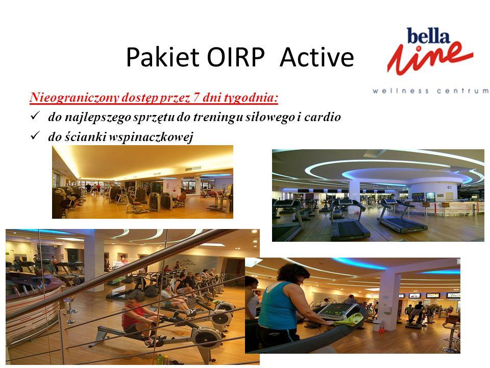 Pakiet OIRP Active Nieograniczony dostęp przez 7 dni tygodnia: do najlepszego sprzętu do treningu siłowego i cardio do ścianki wspinaczkowej