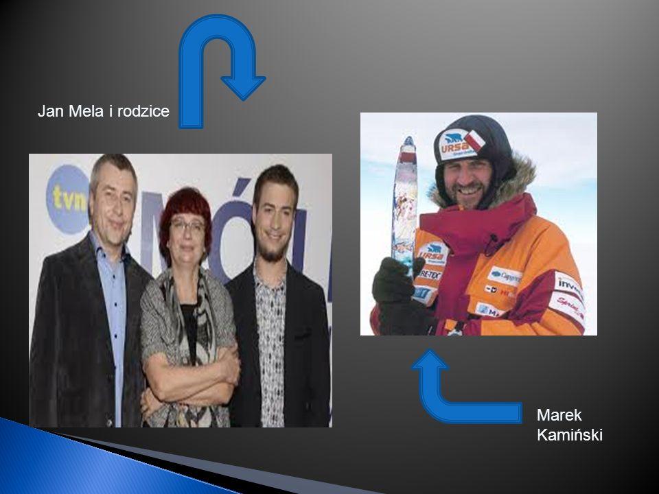 Jan Mela i rodzice Marek Kamiński