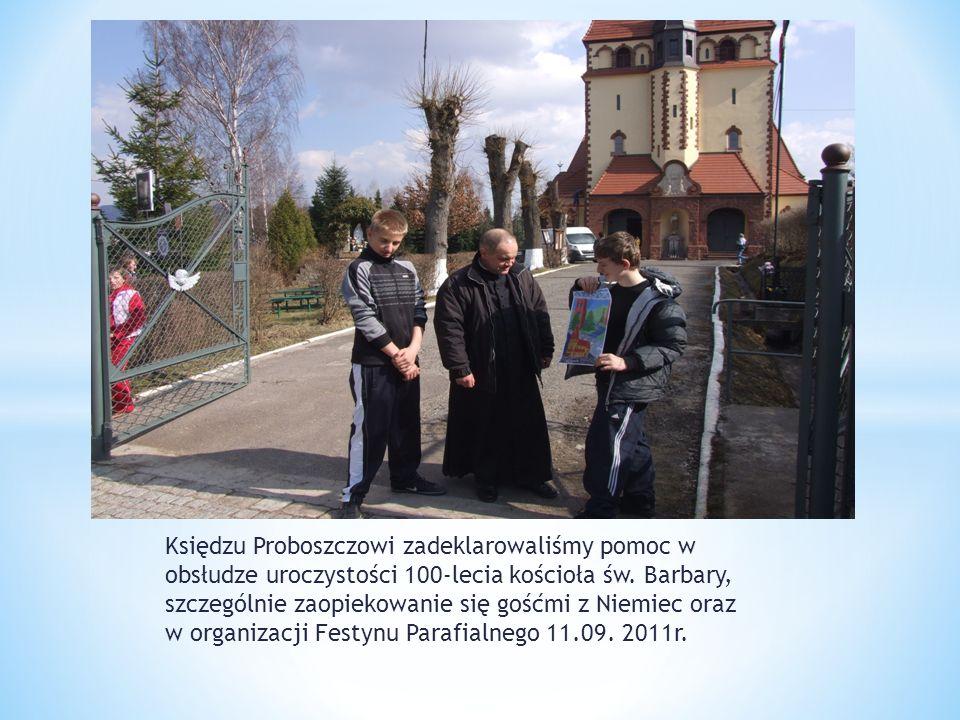 Księdzu Proboszczowi zadeklarowaliśmy pomoc w obsłudze uroczystości 100-lecia kościoła św.