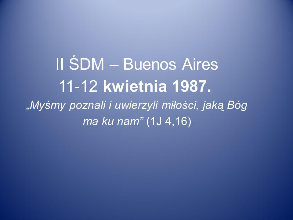 II ŚDM – Buenos Aires 11-12 kwietnia 1987.