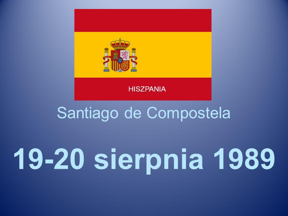 Santiago de Compostela 19-20 sierpnia 1989 HISZPANIA