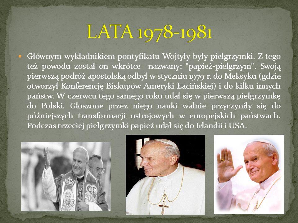 Głównym wykładnikiem pontyfikatu Wojtyły były pielgrzymki. Z tego też powodu został on wkrótce nazwany: