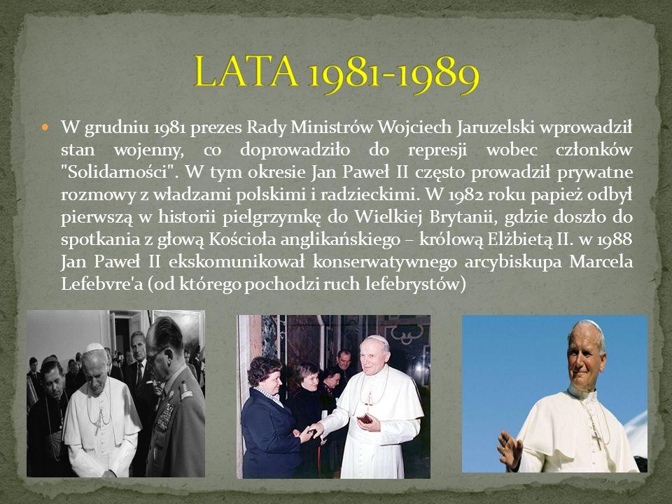 W grudniu 1981 prezes Rady Ministrów Wojciech Jaruzelski wprowadził stan wojenny, co doprowadziło do represji wobec członków