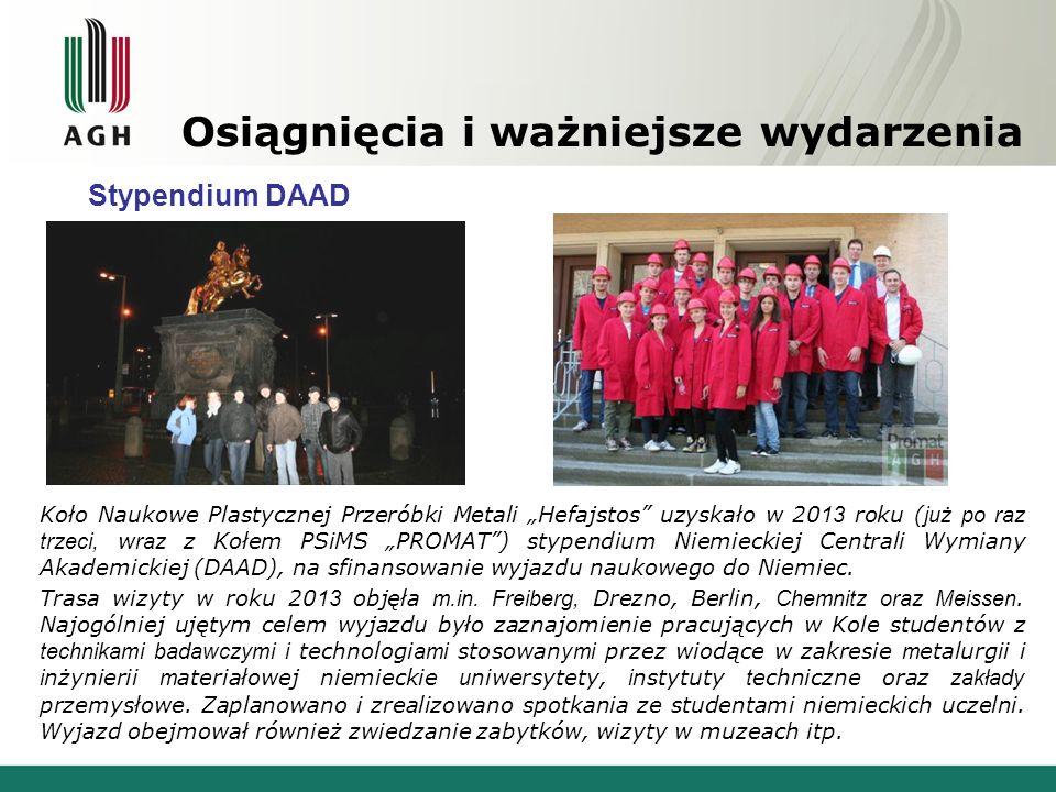 Osiągnięcia i ważniejsze wydarzenia Stypendium DAAD – lipiec 2013 Zakłady Kuźnicze w Gröditz Fragment Muru Berlińskiego Berlin Deutsches Technikmuseum