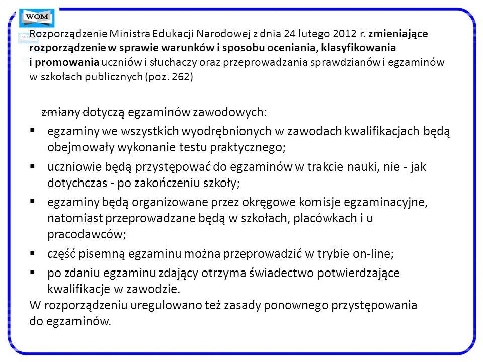 Rozporządzenie Ministra Edukacji Narodowej z dnia 24 lutego 2012 r.