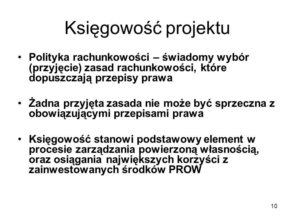 11 Polityka rachunkowości Księgowość wymaga ścisłej współpracy służb finansowo-księgowych z pionami merytorycznymi Ustawa o rachunkowości nakłada na wszystkie jednostki prowadzące księgi rachunkowe obowiązek posiadania dokumentacji opisującej w języku polskim przyjęte zasady (politykę) rachunkowości Zakres polityki wynika z art.