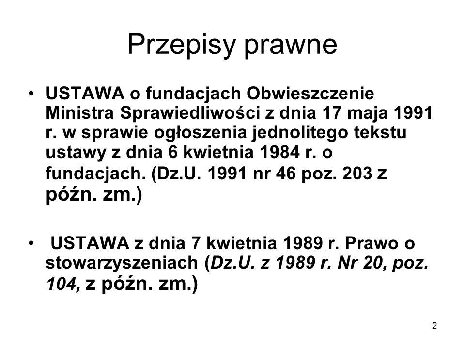 3 Przepisy prawne Ustawa z dnia 29 września 1994 r.