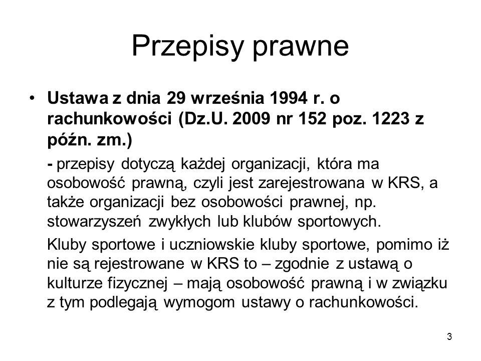 4 Przepisy prawne Rozporządzenie Ministra Finansów z dnia 15 listopada 2001 r.