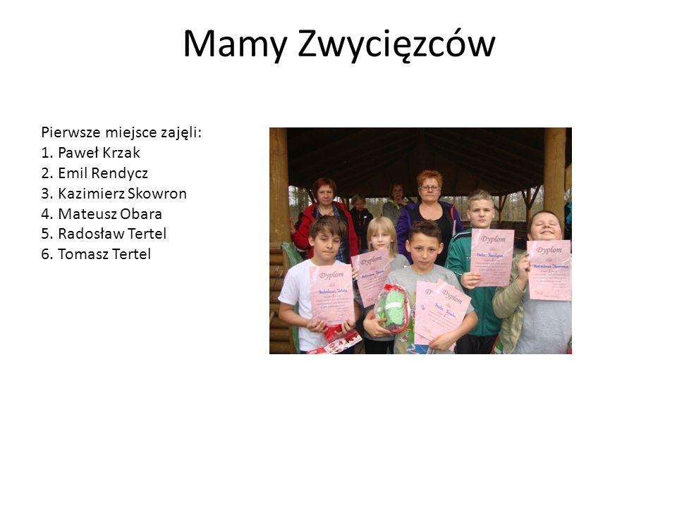 Mamy Zwycięzców Pierwsze miejsce zajęli: 1.Paweł Krzak 2.