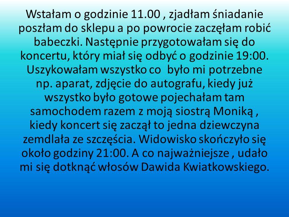 Mój ulubiony dzień z ferii 14 lutego koncert Dawida Kwiatkowskiego