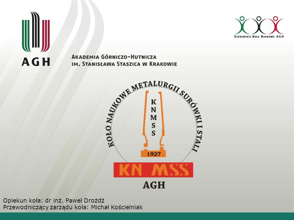HISTORIA Koło Naukowe Metalurgii Surówki i Stali zostało zawiązane 11 listopada 1927 roku.