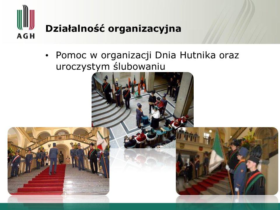 Działalność organizacyjna Pomoc w organizacji Dnia Hutnika oraz uroczystym ślubowaniu