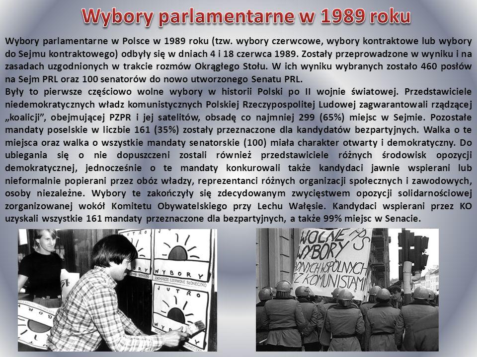 Wybory parlamentarne w Polsce w 1989 roku (tzw. wybory czerwcowe, wybory kontraktowe lub wybory do Sejmu kontraktowego) odbyły się w dniach 4 i 18 cze